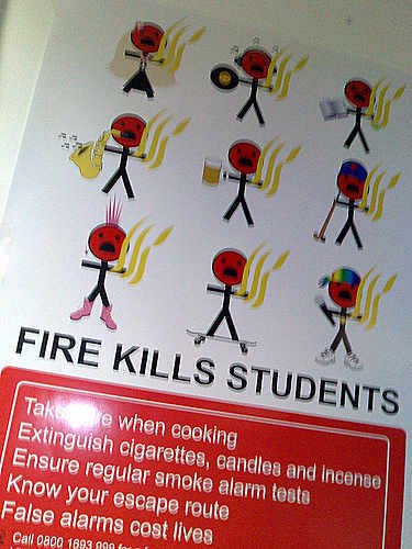 Fire Kills Students