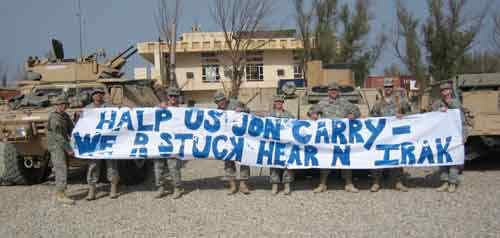 Plea for Help to John Kerry from Uneducated Troops Stuck in Iraq