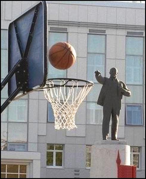 Statue Shooting Baskets